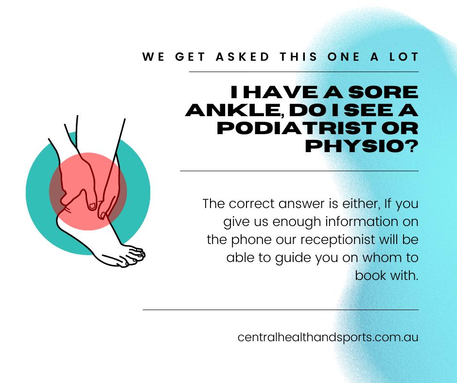 Podiatrist or Physio